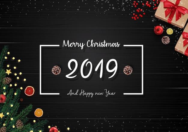 Heiraten sie weihnachten und guten rutsch ins neue jahr-hintergrund 2019