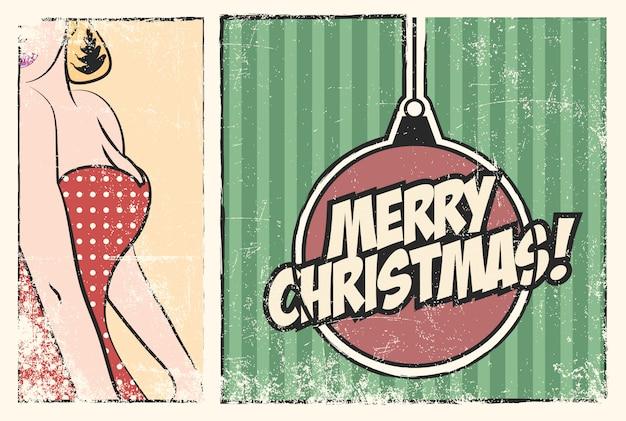 Heiraten sie weihnachtshintergrund, illustration im vektorformat