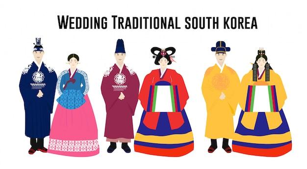Heiratendes traditionelles südkoreanisches bündel