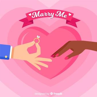 Heiratsantrag konzept
