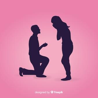 Heiratsantragzusammensetzung mit schattenbildart