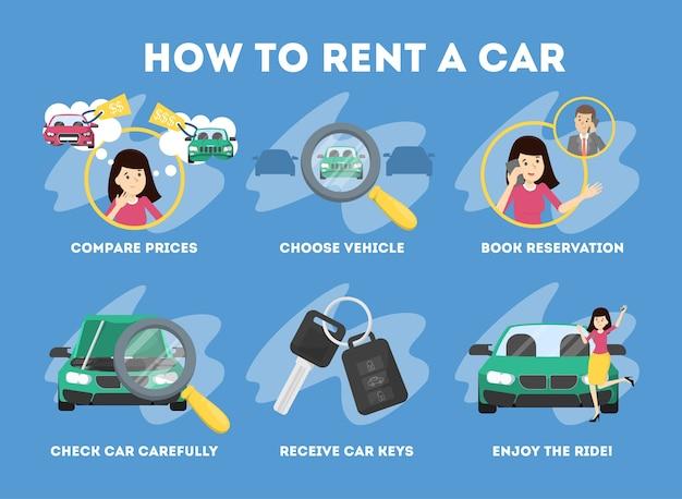 Heiß, um ein auto zu mieten. transport-service
