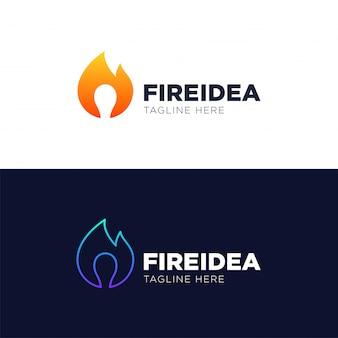 Heiße idee logo template design vector, emblem, konzept des entwurfes, kreatives symbol