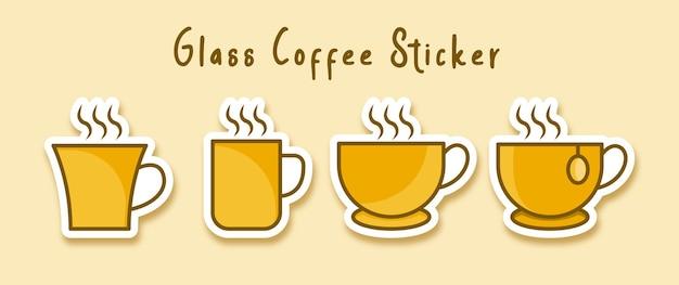 Heiße kaffee-tee-tasse