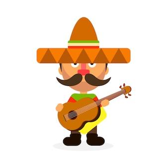 Heißer mexikaner im sombrero