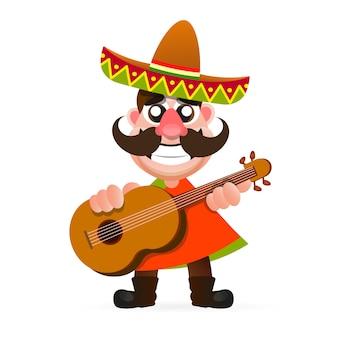 Heißes mexikanisches logo.