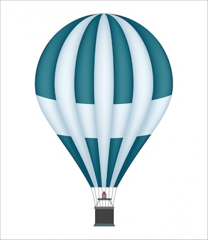 Heißluftballon isoliert symbol