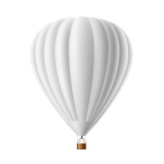 Heißluftballon weiß isoliert