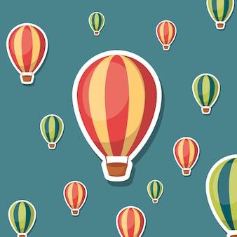 Heißluftballone hintergrund