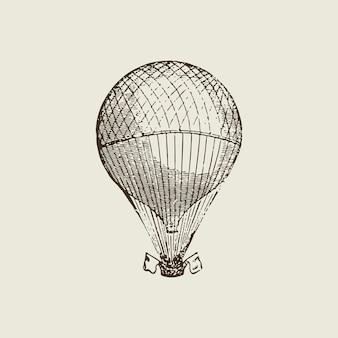 Heißluftballonillustration der weinlese