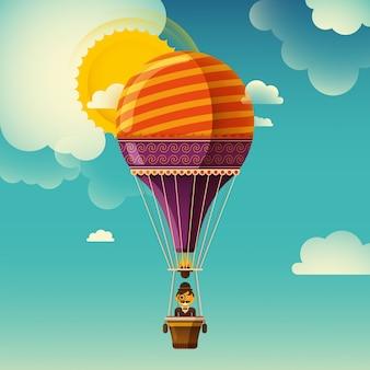 Heißluftballonillustration