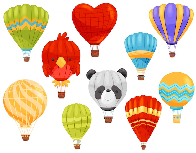 Heißluftballonkonzept. flache illustration.