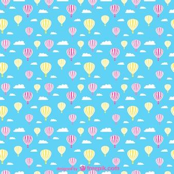 Heißluftballons nahtlose muster
