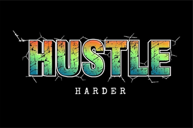 Hektik härter motivierende zitate typografie t-shirt design