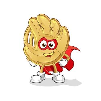 Helden der baseballhandschuhe. zeichentrickfigur