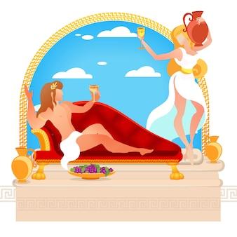 Helden der griechischen mythen dionysos und ariadne götter