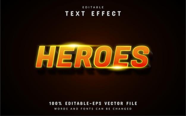 Helden text - 3d orange farbverlaufstext-effekt