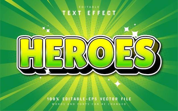 Helden-texteffekt-karikaturstil