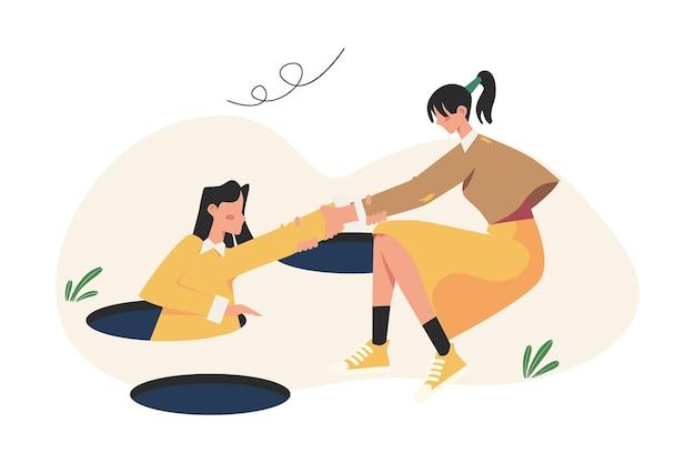 Helfen sie anderen von geschäftlichen hindernissen, das ziel zu erreichen