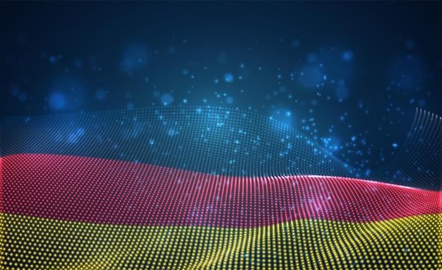 Hell leuchtende landesflagge aus abstrakten punkten. deutschland