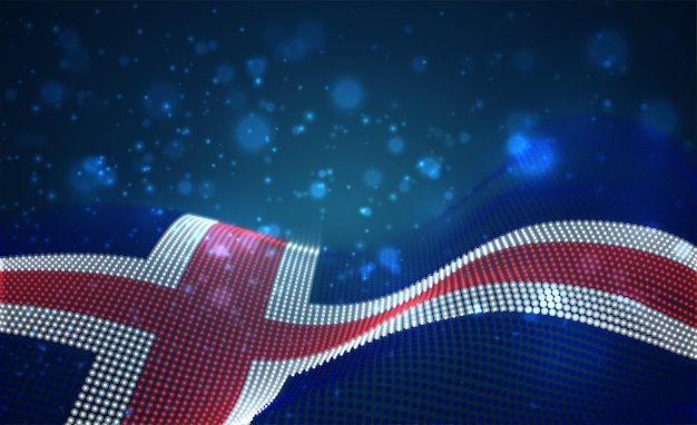 Hell leuchtende landesflagge von island