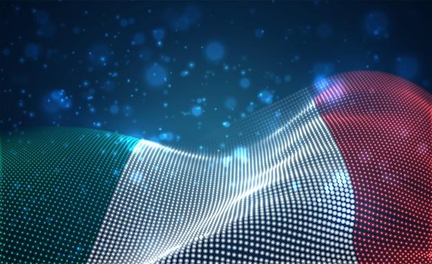 Hell leuchtende landesflagge von italien