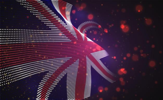 Hell leuchtende landflagge der abstrakten punkte. england