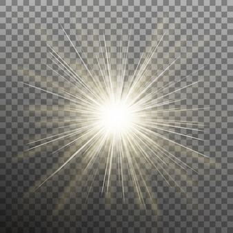 Hell leuchtender stern. explosion platzen. transparenter hintergrund nur in