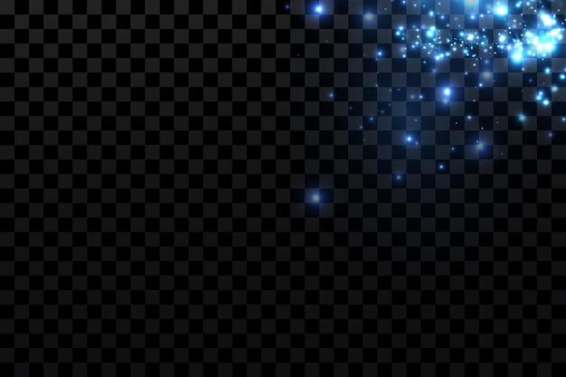 Hellblau funkelnde partikel hintergrunddekoration