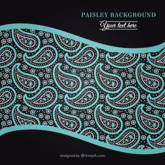 Hellblau hand gezeichnet paisley-hintergrund