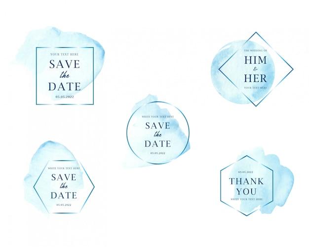 Hellblaue aquarellflecke, die sammlung wedding sind
