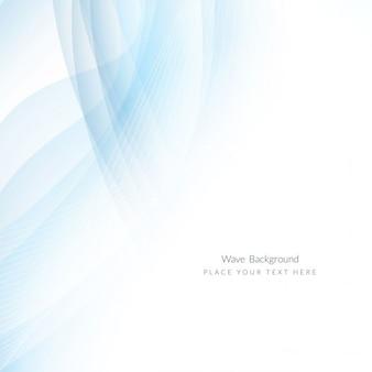 Hellblaue farbe elegante welle hintergrund design
