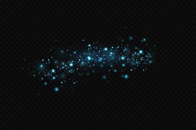Hellblaue funkelnde partikel hintergrunddekoration