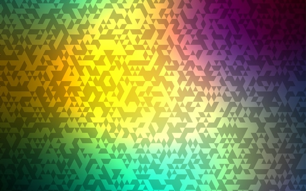 Hellblaue, grüne vektorschablone mit kristallen, dreiecke.