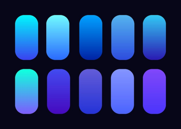 Hellblaue hintergrundkollektion mit farbverlauf
