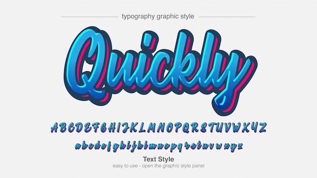Hellblaue moderne graffiti-kalligraphie