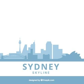 Hellblaue skyline von sydney