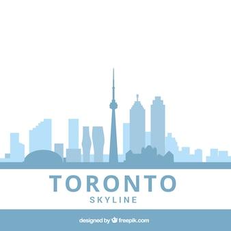Hellblaue skyline von toronto
