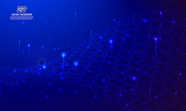 Hellblauer hintergrund der eleganten abstrakten technologie