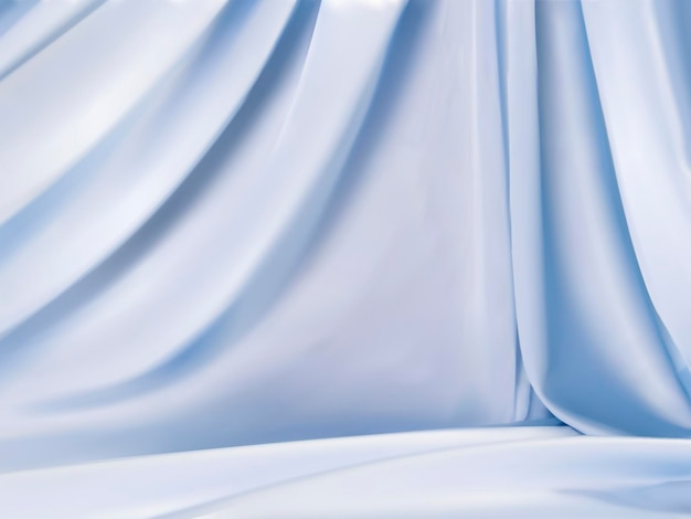 Hellblauer satin, schöner stoffhintergrund im hängenden stil