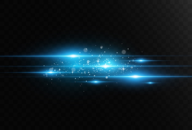 Hellblauer spezialeffekt. glühende schöne helle linien auf einem dunklen hintergrund.