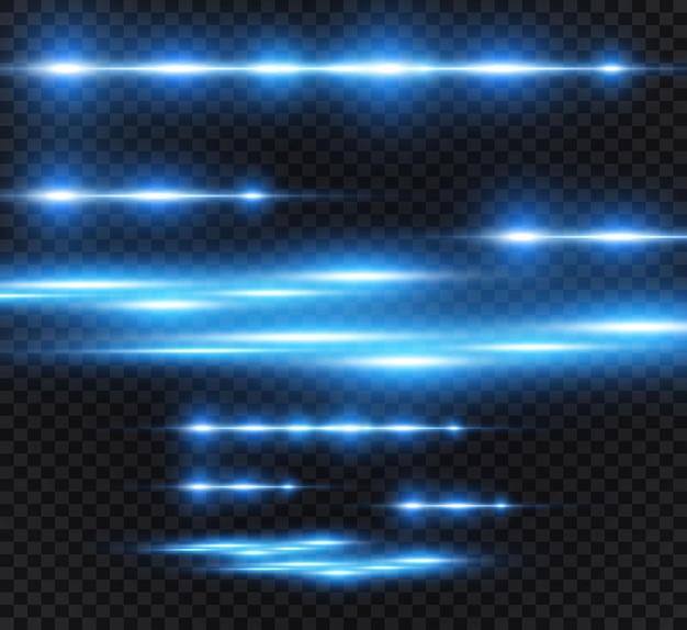 Hellblauer spezialeffekt. leuchtende helle streifen