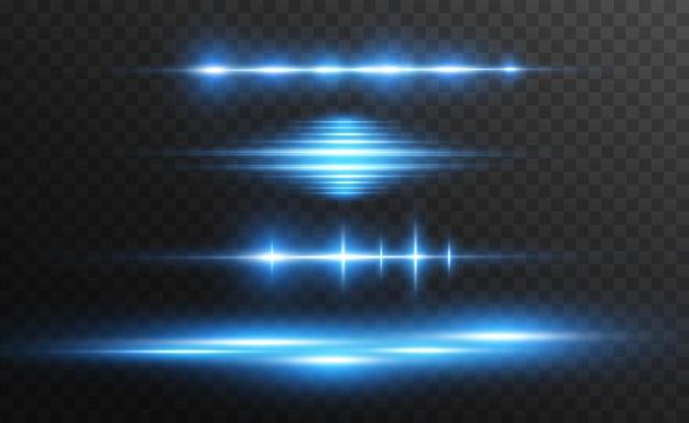 Hellblauer spezialeffekt leuchtende helle streifen