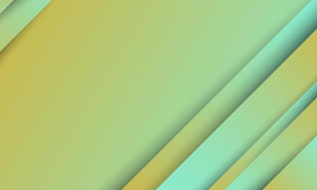 Hellblauer und gelber hintergrund mit abstrakter diagonaler streifenverlaufsform mit schatten