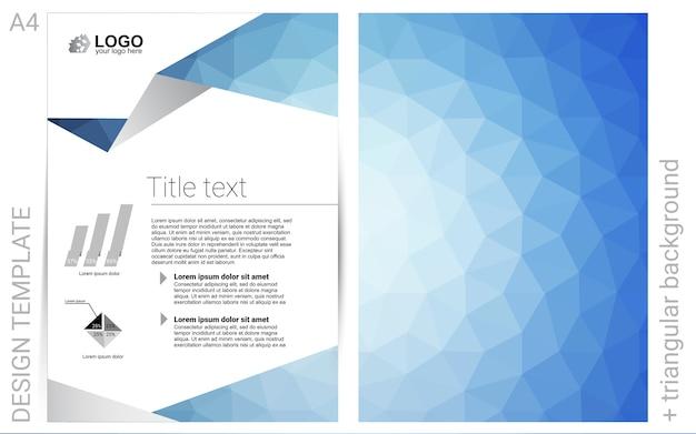 Hellblaues vektormuster für poster