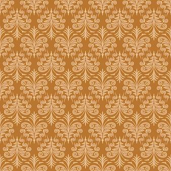Hellbrauner dekorativer strudel-hintergrund mit goldpelz