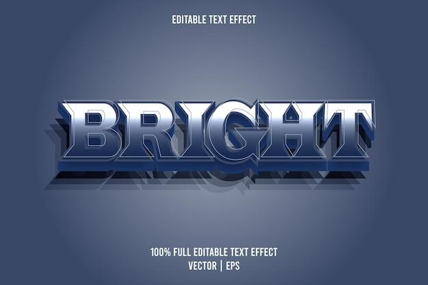Helle bearbeitbare texteffekt-comic-stil blaue farbe