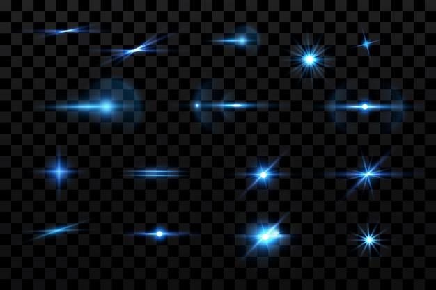 Helle blaue funkelnde sternenpartikel-hintergrunddekoration