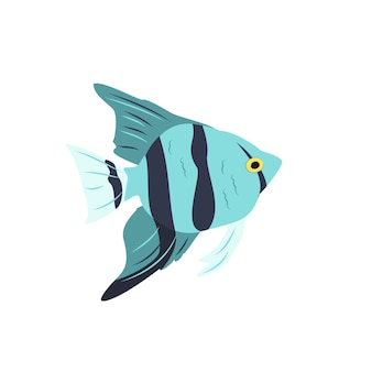 Helle cliparts von blauen fischen. die natur der meere