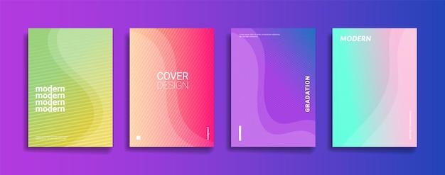 Helle farbverlauf abstrakte linienmuster hintergrund cover design modernes hintergrunddesign mit t